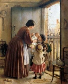 kvinna barn gammalt rum kopia