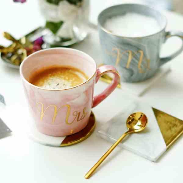 natural marble mug