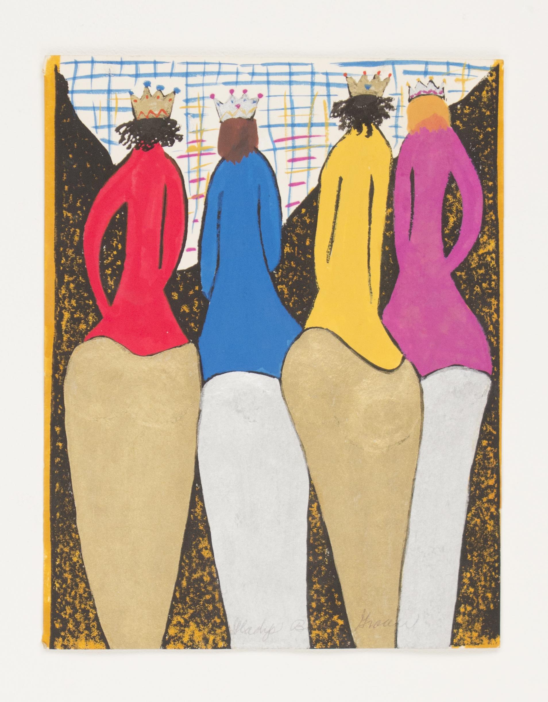 """Icons"" (Artist Book Edition VI) 1986, Gouache, 11x8.5IN"