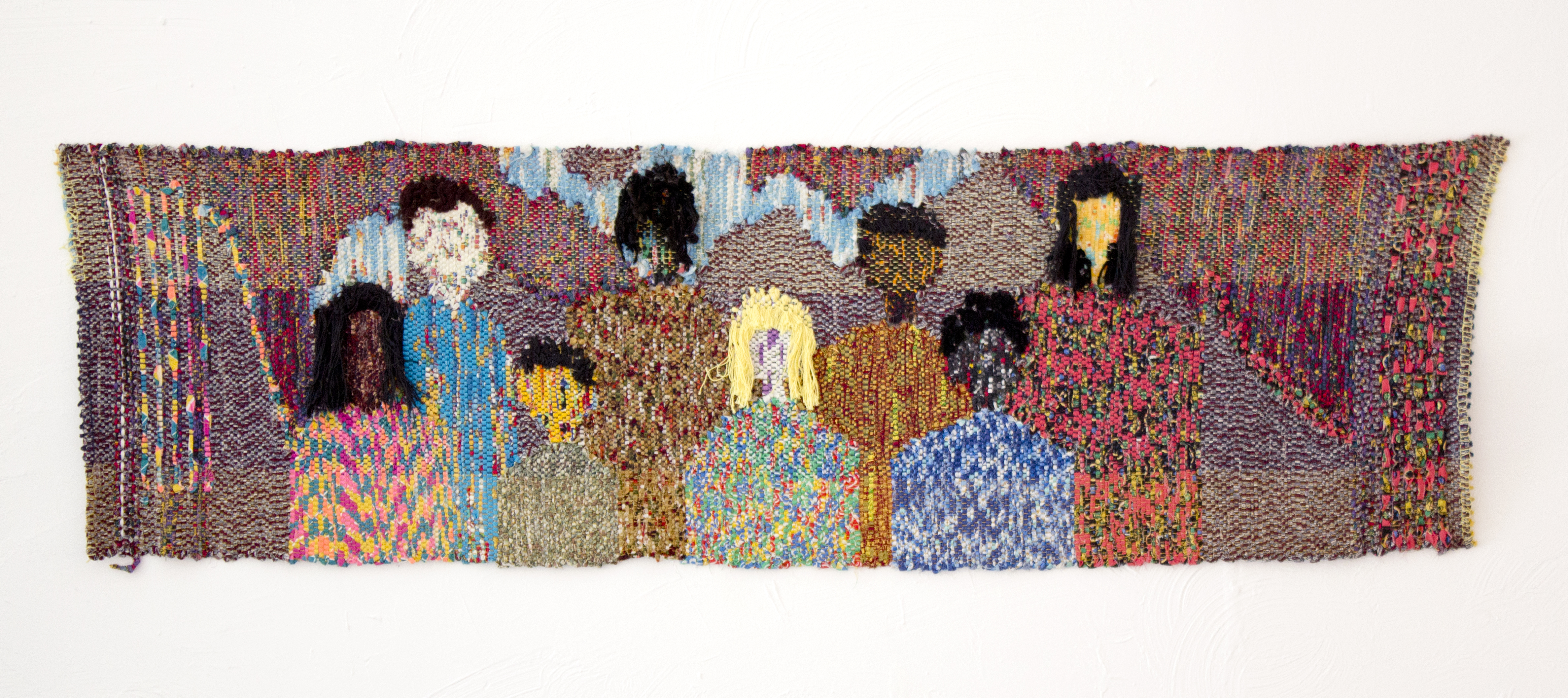 """""""Peoples"""" 1995, Woven Fabric, 23x74.5IN"""