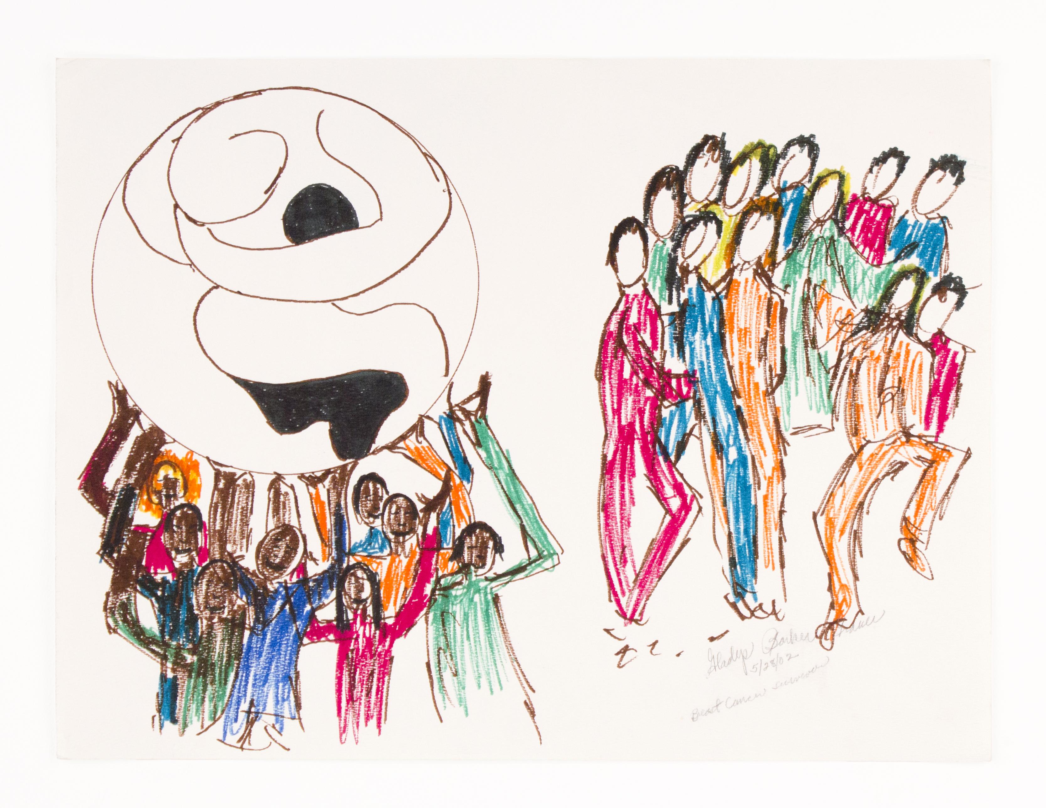 """""""Untitled Ephemera"""", Marker Pen on Paper, 15x20IN"""