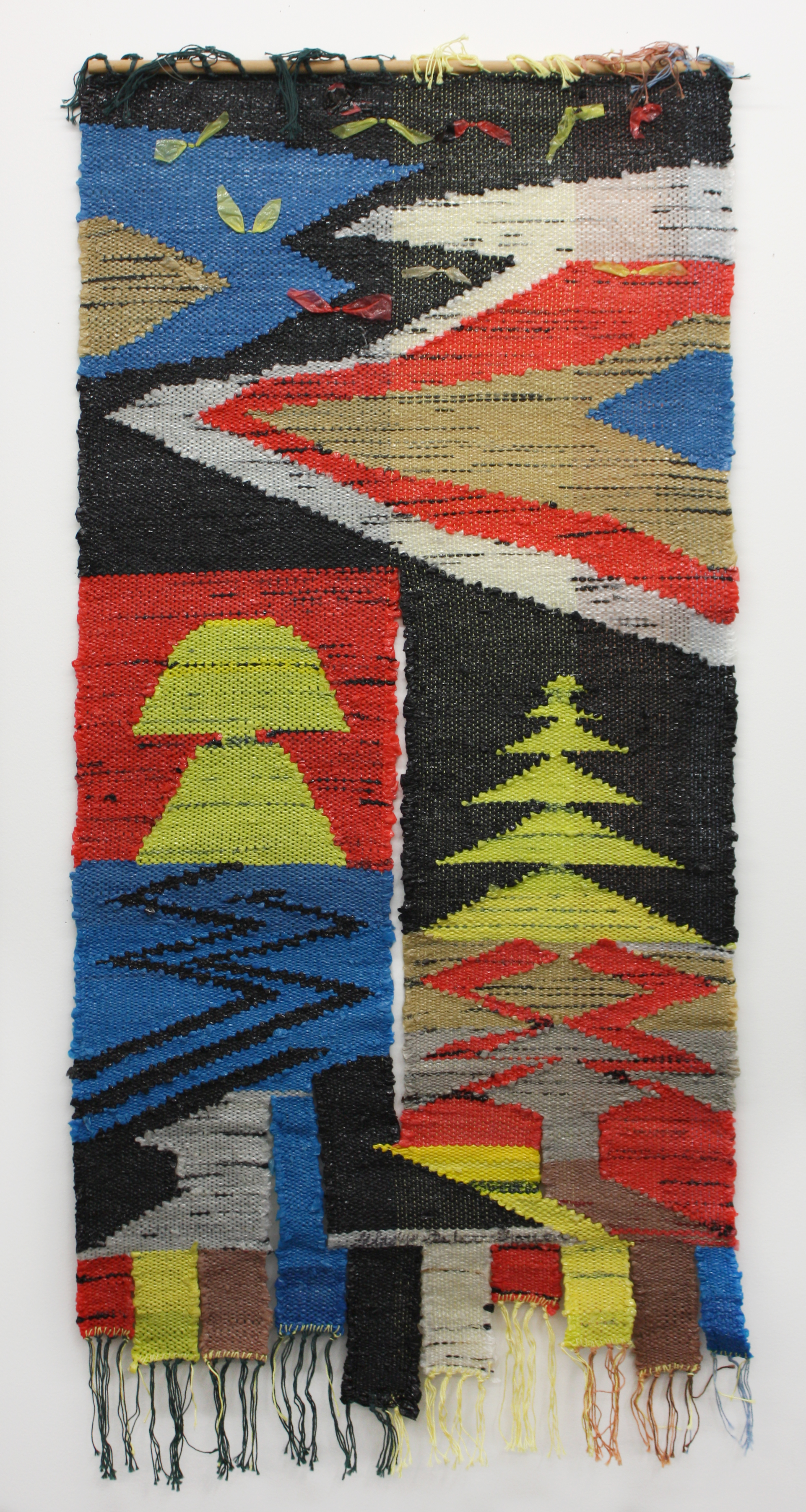 """""""Untitled"""" 2005, Woven Plastic, 48x24IN"""