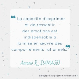 citation inspirante Damasio - exprimer ressentir émotions