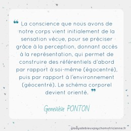 citation inspirante Ponton - conscience corporelle sensation perception représentation schéma corporel