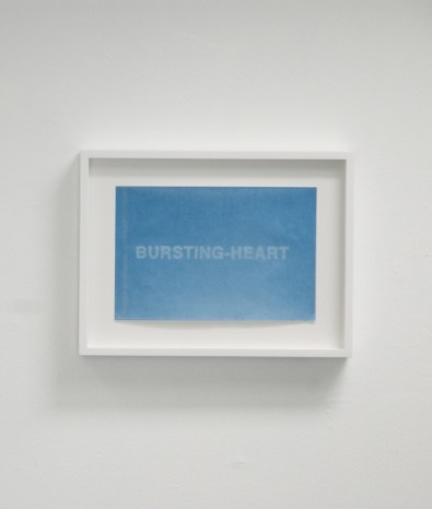 Detail of Ginny Cook, Bursting Heart, 2008, sunprint, 9 x 12 inches