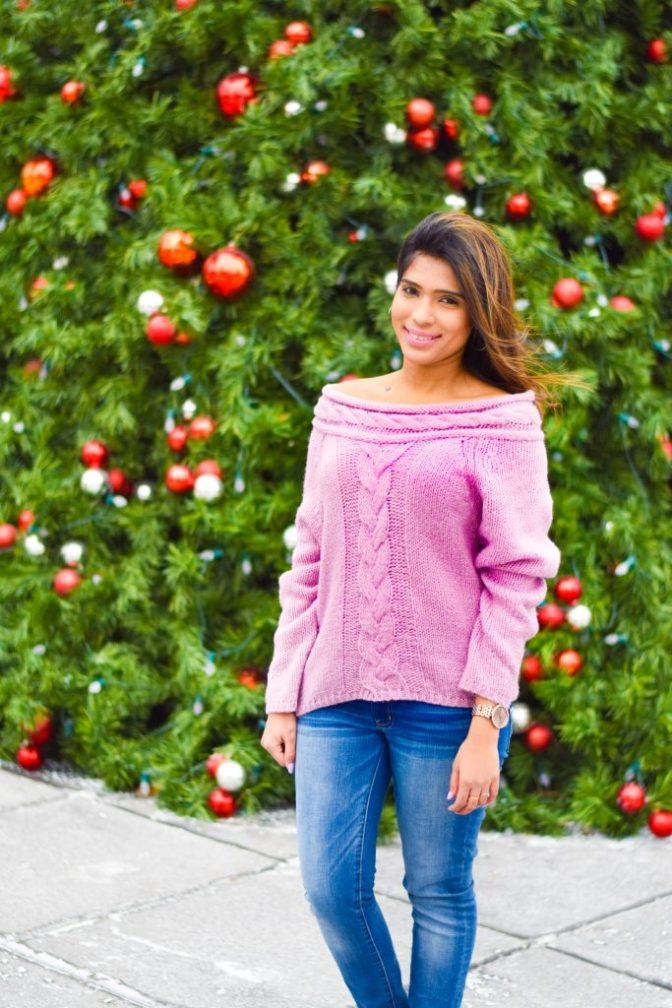 Romwe off shoulder sweater