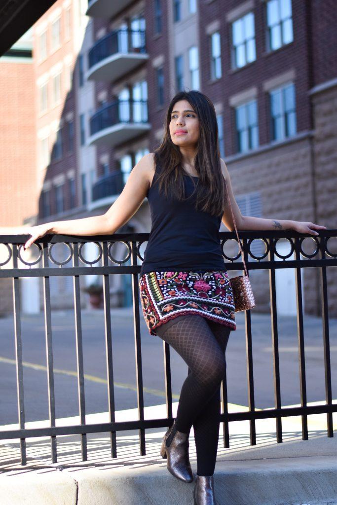 Romwe tribal print skirt