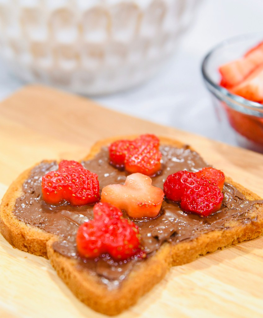 Chocolate Bread with Strawberries