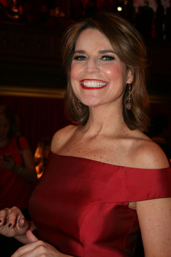 Savannah Guthrie at 2013 Heart Truth Red Dress Show