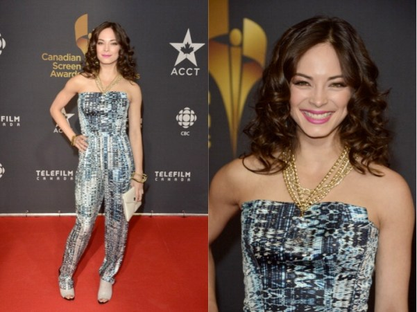 Kristin Kreuk in Arthur Mendonça at Canadian Screen Awards