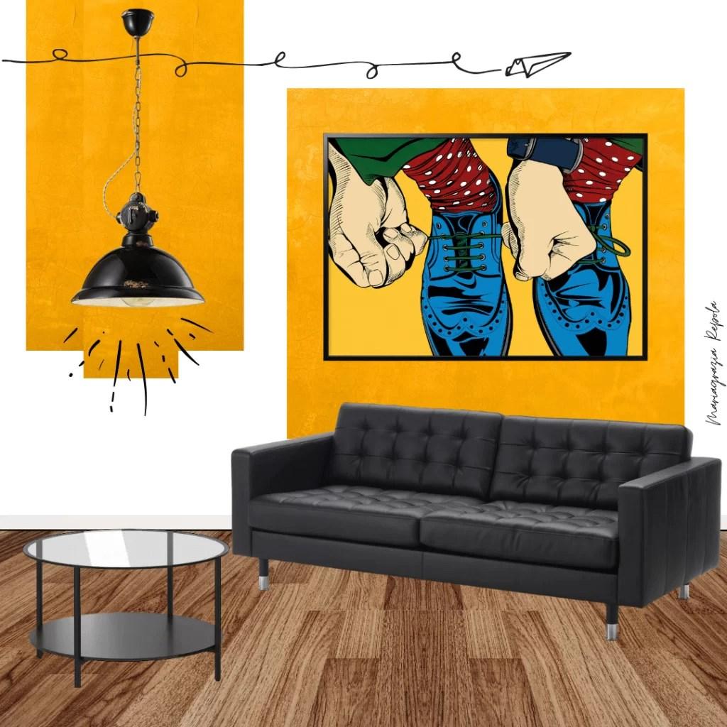 Il principio di selezione dei dipinti per la dimensione del soggiorno è semplice: Quadri Ikea Come Decorare Gli Ambienti Della Nostra Casa Per Ogni Stile