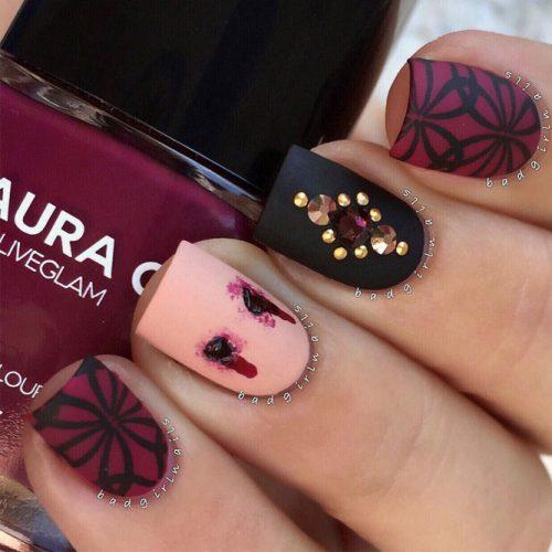 Vampy Halloween Nail Art Idea