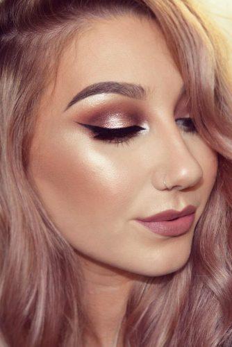 Light Shimmer Rose Gold Makeup Looks picture 2
