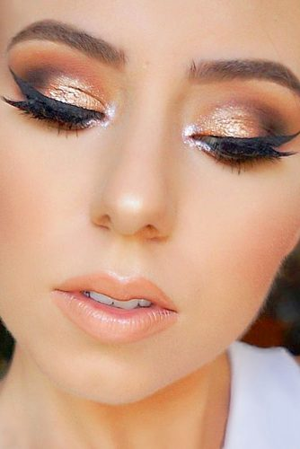 Glitter Rose Gold Makeup Ideas picture 1