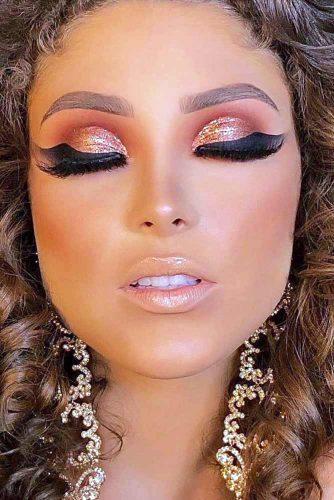 Light Shimmer Rose Gold Makeup Looks picture 6