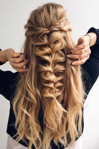 Twisted Hairstyles for Romantic Look picture1