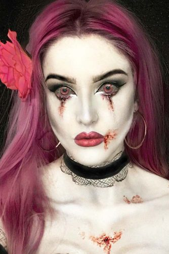 Bloody Crying Vampire Look