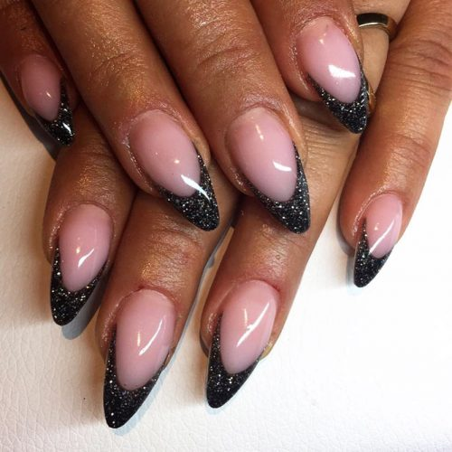 Newest Black Glitter Nails Ideas picture 3