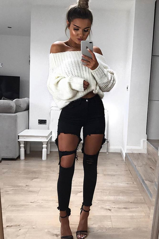 Newest Sexy Outfit Ideas with Leggings or Jeans