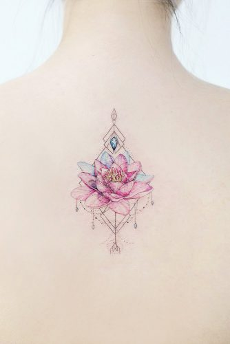 10 BEST LOTUS FLOWER TATTOO IDEAS TO EXPRESS YOURSELF | Beautiful Pink Lotus Tattoo Flower #backtattoo #geometrictattoo