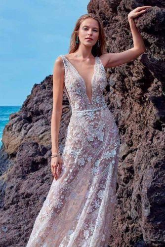 Wedding Gown With Bare-Skin Effect