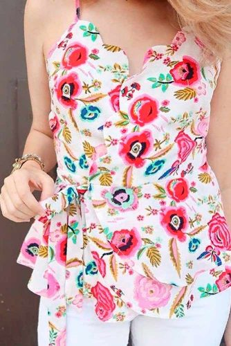 Summer Blouse With Floral Print #summerblouse
