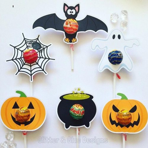 Lollipops Halloween Favors Idea
