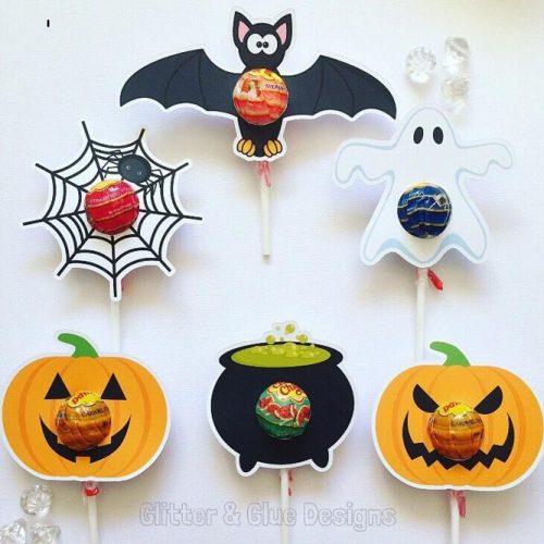 Lollipops Halloween Favors Idea