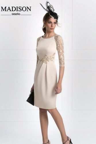 Classic Dress With Lace Sleeves #classicdress #prettyeveningdress