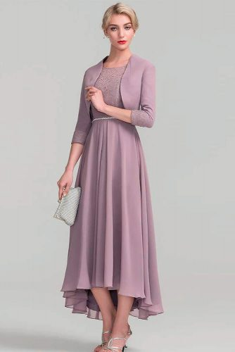 Dress With A Natural Waist And A Fuller Skirt #eveningsuit #formaldress