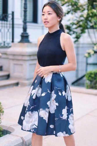 Flare Skirt #flareskirt #floralskirt