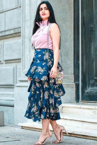 Layered Skirt #floralskirt