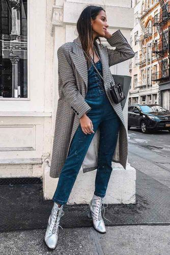 With Long Coat And Silver Boots #silverboots #coat