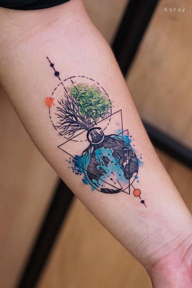 Geometric Forest Tattoo : geometric, forest, tattoo, Incredible, Tattoo, Ideas, Inspire, Glaminati