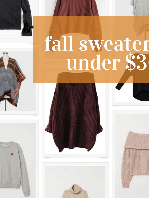 Fall's Must Have Sweaters Under $30