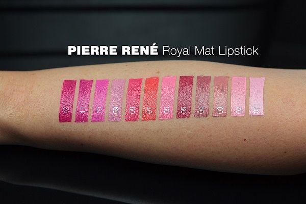 Pierre Rene Royal Mat Lipstick 12