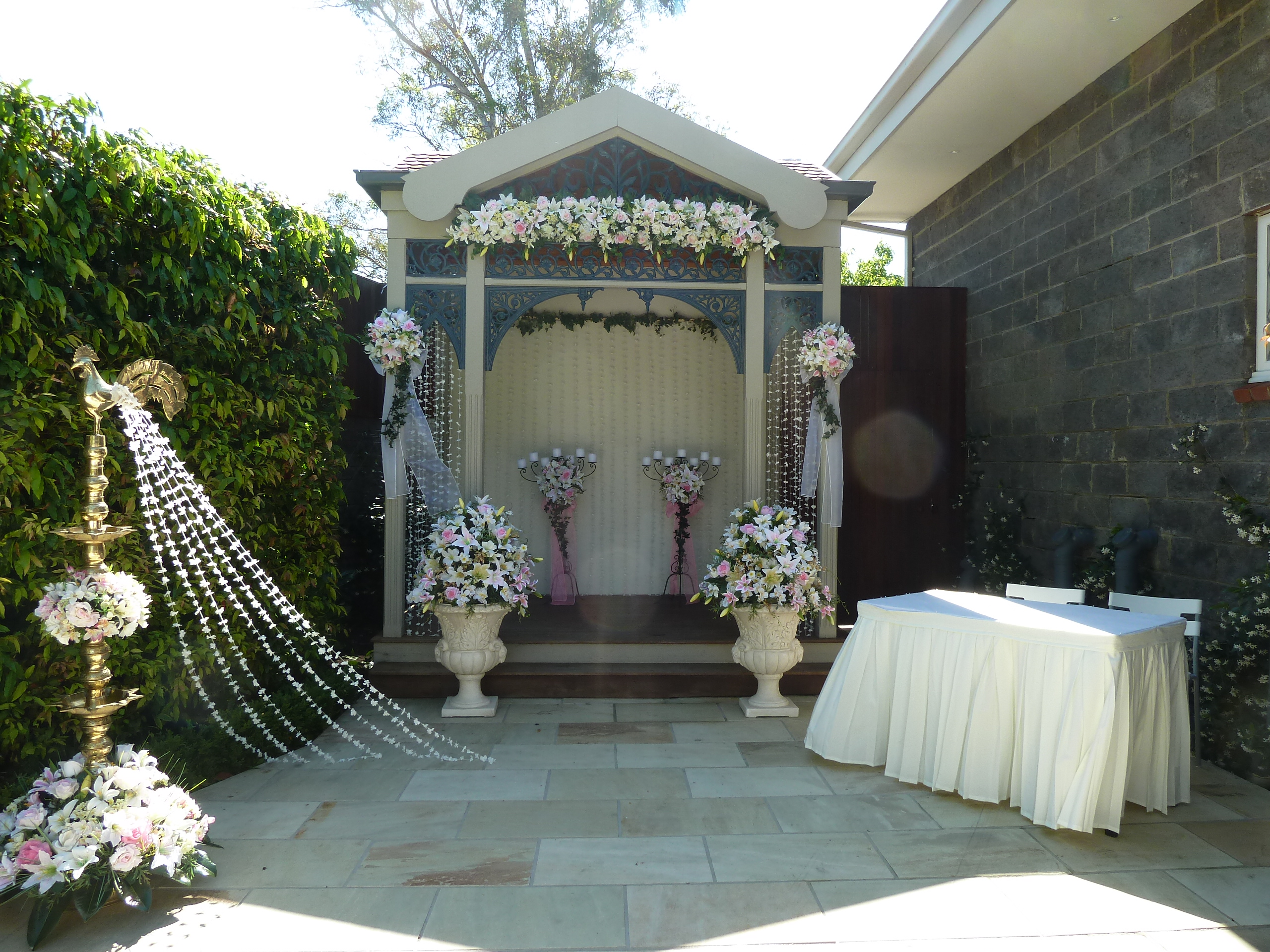 Gazebo Wedding Ceremony Decor  Glamorous Function Decor