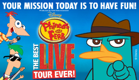 Win a Family 4-pack to Disney's Phineas and Ferb: The Best LIVE Tour Ever!