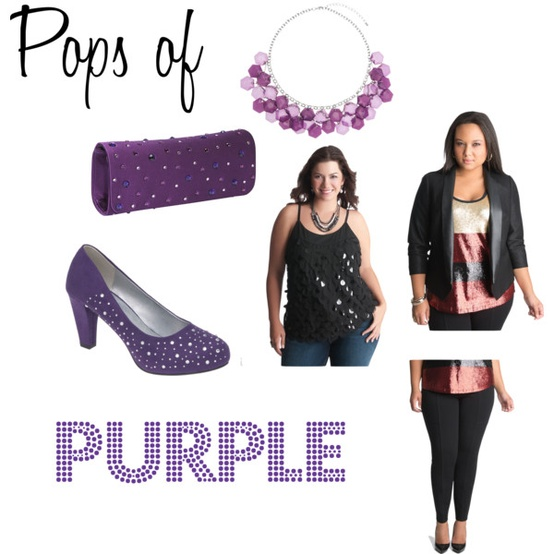 Pops of Purple from lane bryant