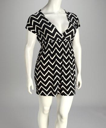 Zulily.com Plus Size Chevron Dress
