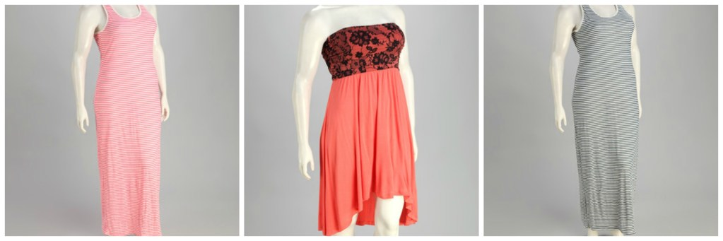 Zulily Plus Size Dresses and Blouses under $18.00