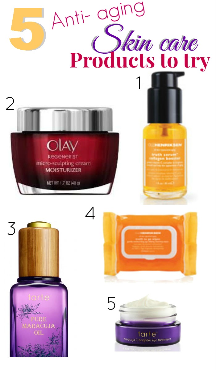 5  anti aging skin care products to try