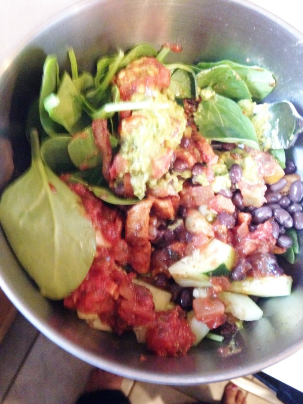 Healthy Chicken Taco Salad Advocare  24 day challenge Lunch Ideas