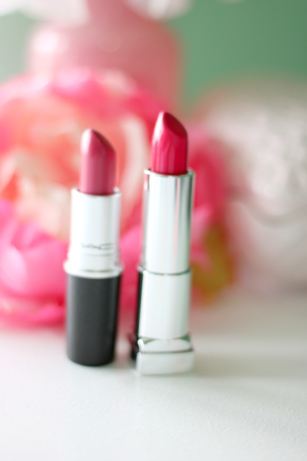 MAC Red Balloon vs Maybelline Vivid Rose