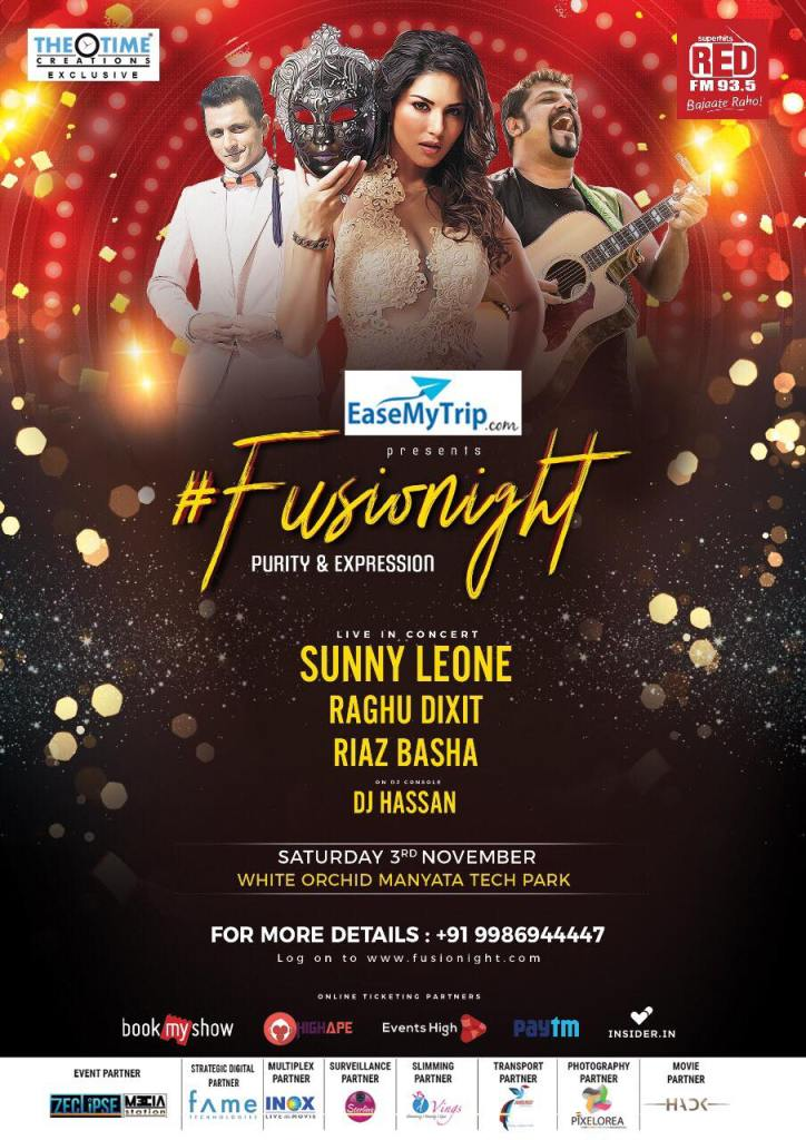#fusionight THE BIGGEST PARTY IN BANGALORE