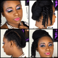 New Years Eve Makeup and Hairstyle for Natural Hair