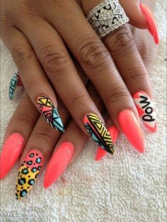 Pop Art Nail design Spring/Summer nails
