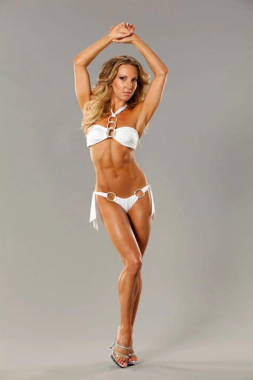beach bunny white bikini halterneck swimsuit model