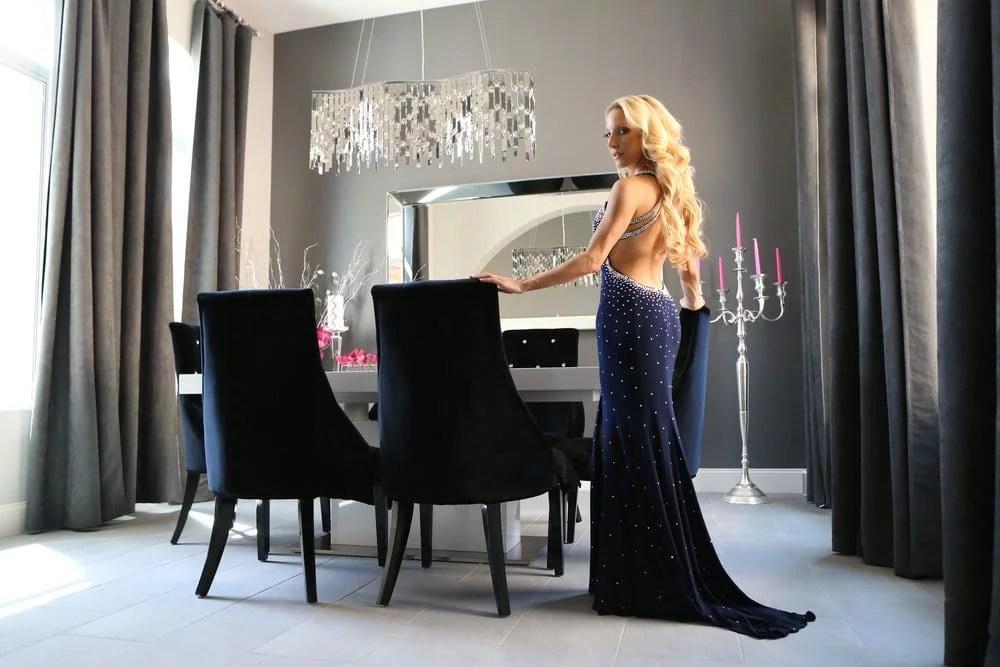Jovani navy backless gown eve dawes home
