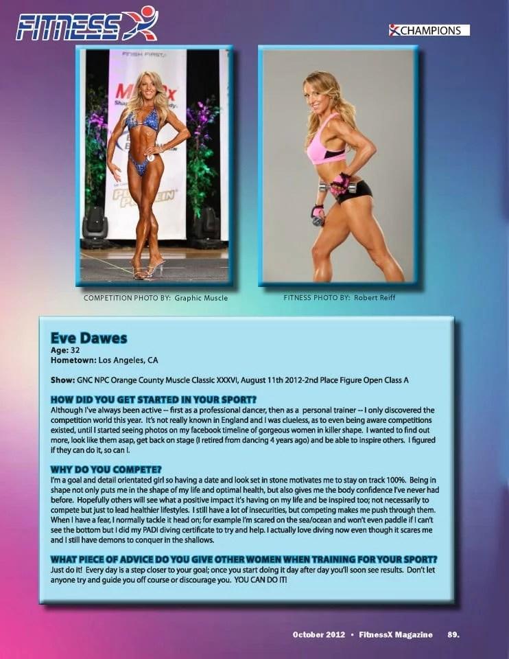 Fitness magazine interview eve dawes